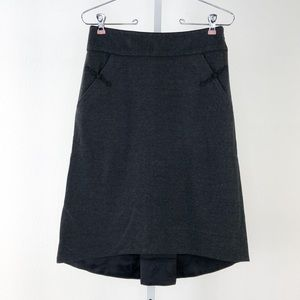 Elevenses Dark Gray Hi/Low Stretchy Skirt